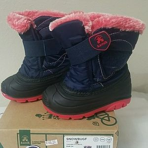 Kamik toddler snow boots size 7